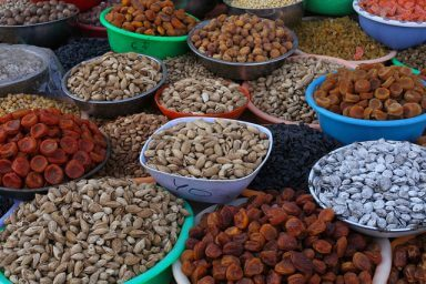 Eating healthy foods like the nuts and dried fruits pictured here can help you fight addiction