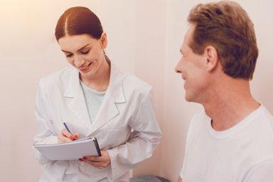 man enrolling in opioid addiction treatment