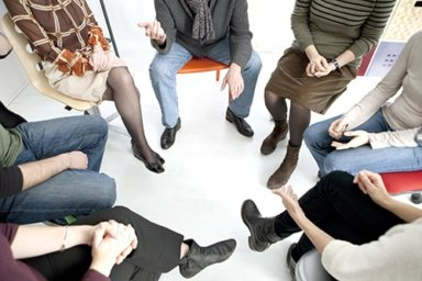 a group therapy in session
