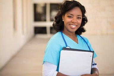a young nurse helping in a medical detox program