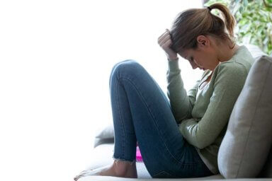 woman suffering from anxiety and depression
