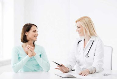 doctor and client in a California heroin detox program